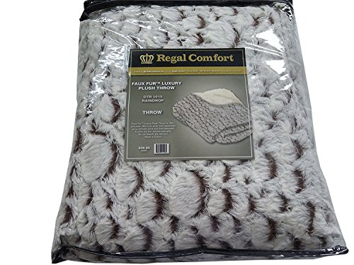 Regal Comfort Faux Fur Luxury Sherpa Plush Throw, 50