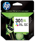 HP 301XL - Cartucho de tinta Original HP 301 XL de álta capacidad Tricolor para HP DeskJet, HP OfficeJet y HP ENVY