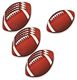 college football 13 - 12-Pack Football Cutouts - Football Cutouts for Sports Themed Celebrations, Football Party Decorations, Tailgate Party Supplies, 13 x 8 Inches