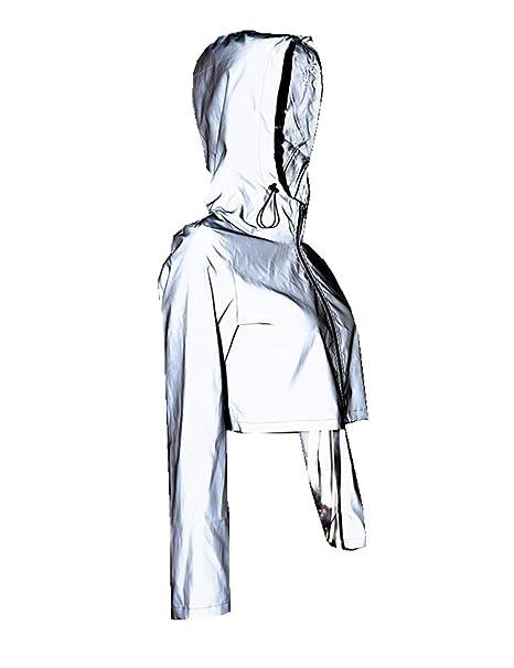 Amazon.com: Chaqueta reflectante 3M para mujer con capucha ...
