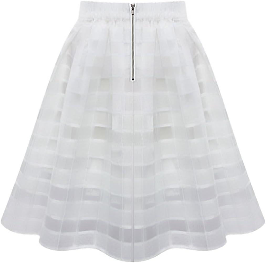 Mujer Falda Corta Verano Elegantes Moda Organza Dulce Lindo Chic ...