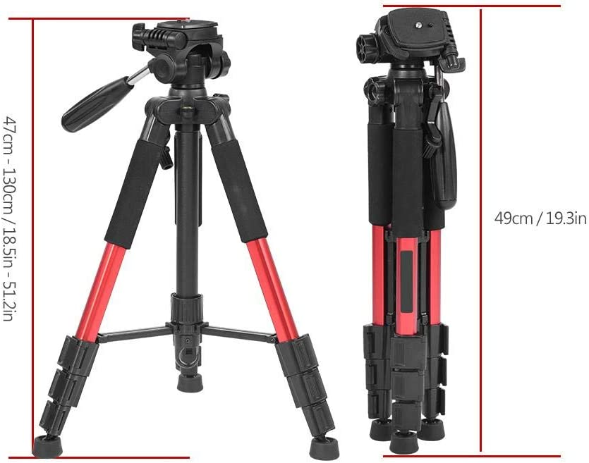 Black Non-Slip Rubber Feet and Bag for SLR DSLR Digital Camera V BESTLIFE Foldable Tripod,Portable Travel Camera Lightweight Tripod with Load-Bearing Hook
