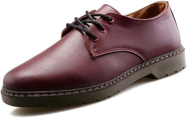 GERUIQI Chaussures à lacets en cuir synthétique pour homme