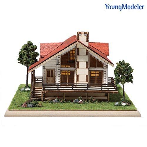 desktop wooden model kit story house buy online in oman toy