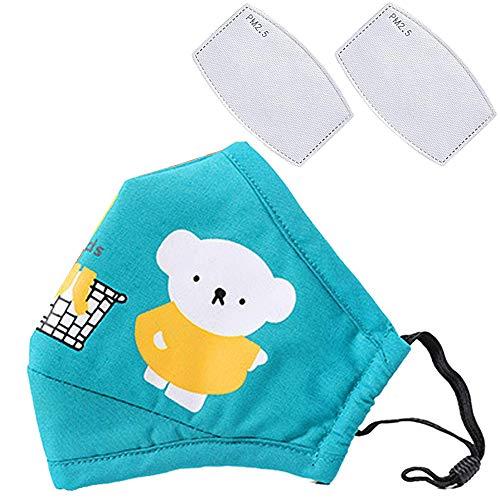 Cartoon bears cotton dustproof for children Blue