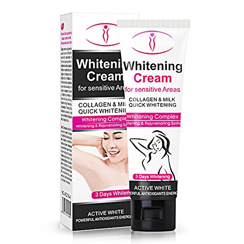 Quick Whitening Cream for Sensitive Areas,ROMANTIC BEAR Collagen and Milk Complex Whitening and Rejuvenating Body Skin Makeup Cosmetic