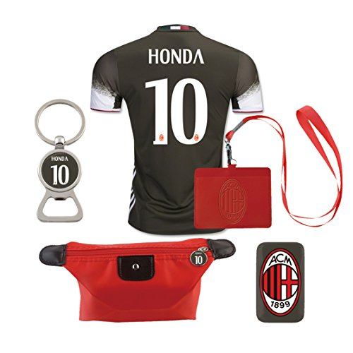 #10 Honda (6 in 1 Combo) A.C. Milan 2nd Away Match Adult Soccer Jersey 2016-17