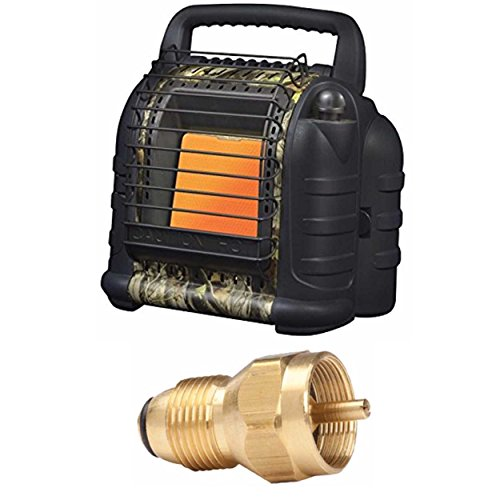 Mr. Heater Hunting Buddy Portable Heater w/ Propane Tank Refill Adapter (Hunting For Portable Heater)