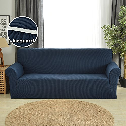 Large Cover - Extra Large Size Sofa Slipcovers for Living Room Stretch Couch Covers Navy Blue by Argstar