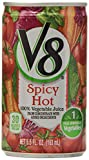 V8, 100% Vegetable Juice To Go , Spicy Hot, 6 ct, 5.5 oz cans