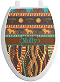 RNK Shops African Lions & Elephants Toilet Seat Decal - Elongated (Personalized)