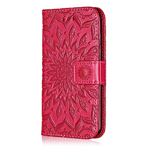 Price comparison product image Case Google Pixel 2 XL,  Bear Village Leather Case with Inner Stand Function,  Card Slot,  Magnetic Flip Phone Protective Case for Google Pixel 2 XL ( 5 Rose Red)