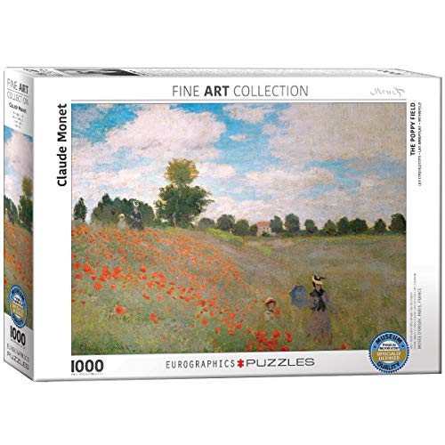 EuroGraphics The Poppy Field by Claude Monet (1000 Piece) - Puzzle Jigsaw Eurographics
