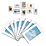 Lubber 12-Pack Magnetic Picture Frame for Refrigerator Magnets 4'' x 6'', 2.5'' x 3.5'', White