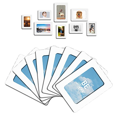 Lubber 12-Pack Magnetic Picture Frame for Refrigerator Magnets 4 x 6, 2.5 x 3.5, White