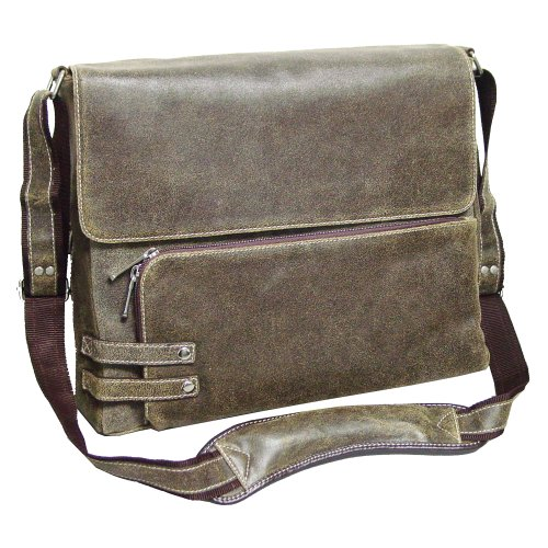 Bellino The Dean Distressed Leather Messenger (Bellino Leather Messenger Bag)