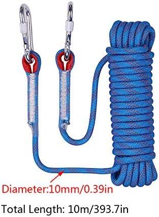 KEBY Nylon Kletterseil 10 30 Meter 20 Sicherheitsseil Freien Wanderung Bergsteigen Outdoor Survival Rope Sport Camping-Durchmesser 10mm
