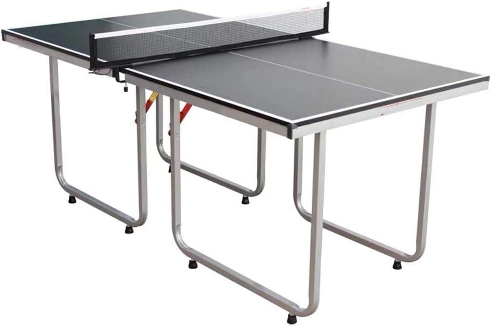 Plegable Mesa de Ping Pong Mesa de Ping-Pong con Net - Ahorro de Espacio de Almacenamiento, Montaje rápido for niños y Adultos (Color : Black)