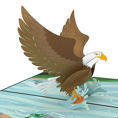 (Lovepop Eagle Pop Up Card, 3D Card, Birthday Card, Patriotic Card, Animal Card, Bird Card, Nature Card, Great Outdoors)