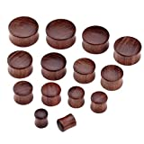 wood plugs 3 4 - PiercingJ 2-14pcs 0G-3/4