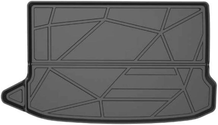 Cqlights Kona Cargo Liner for Hyundai Kona 2018 2019 2020 2021 Trunk Liner Tray Heavy Duty Rubber Rear Cargo Area Mat Waterproof Protector Floor Mat Black