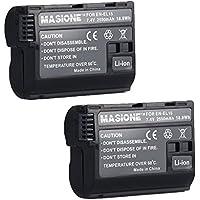 Masione 7.4V 2550mAh EN-EL15 Li-ion Battery for Nikon, Set of 2