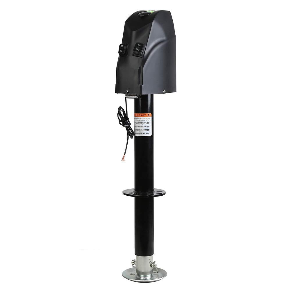 HOTSYSTEM 4000 lb 12V Electric Power A-Frame Tongue Jack for RV Trailer Camping