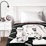 Jay Franco Star Wars Ep 8 Grafix Blanket, Gray