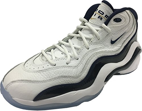 Nike Air Zoom Flight 96 Mens Basket-skor 884491-103_7.5 - Vit / Midnatt Navy-metalliskt Guld-white