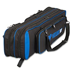 "Vexan ICE Soft-Sided 36"" Rod Bag Keep up to 8 rods safely packed in this water-resistant lightweight denier shell, padded for protection. Double storage pocket inside with Velcro strapping system is great for all of your rod/reel combos so th..."