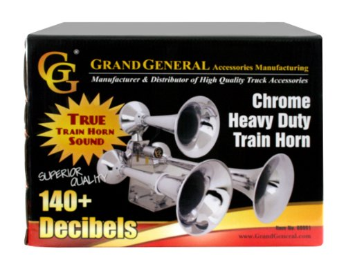 51KqHjHNaEL amazon com grand general 69991 chrome heavy duty train horn with  at bayanpartner.co
