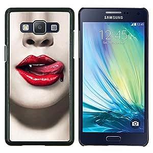 Stuss Case / Funda Carcasa protectora - Labios rojos de sangre dientes de vampiro sexy - Samsung Galaxy A5 ( A5000 ) 2014 Version
