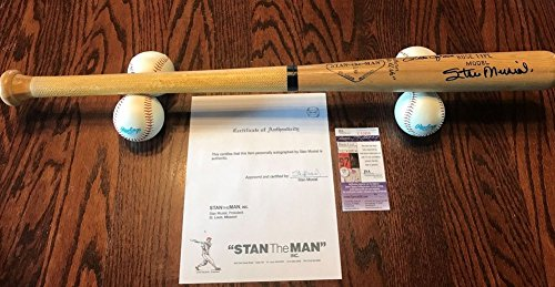Rose Pete Bat (Stan Musial Pete Rose Signed Autograph Stan The Man Bat Company JSA Certified 3000 Hit Club)