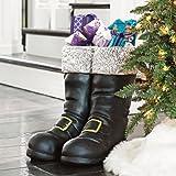 Oversized Santa Boots - Black - Grandin Road