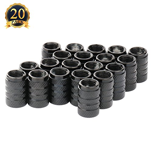 Wheel Valve Stem Cap (SUBANG 20pacs Car Auto Tyre Tire Valve Stem Covers Caps, Black)