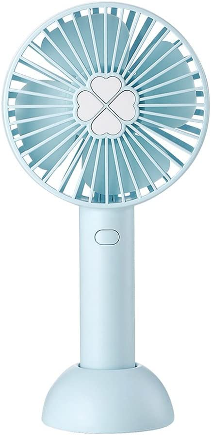 YinQin Mini Handheld Fan Portable Quiet Sound Electric USB Mini Hand Fan 2000mAh Battery Operated Adjustable 3 Speeds Mini Fan for Office Outdoor Traveling Blue