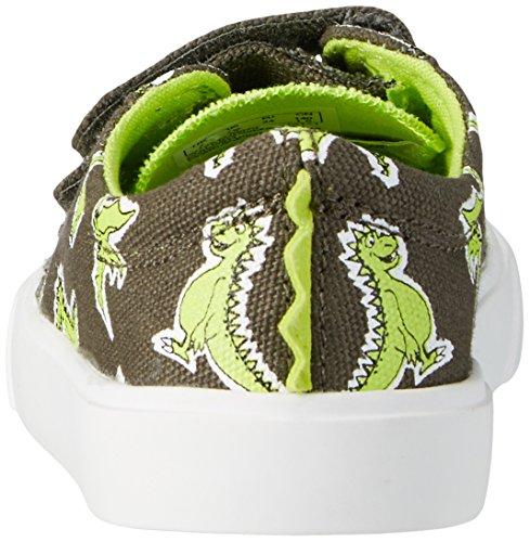 Clarks Tricer Roar, Zapatillas para Niños Verde (Khaki Canvas)