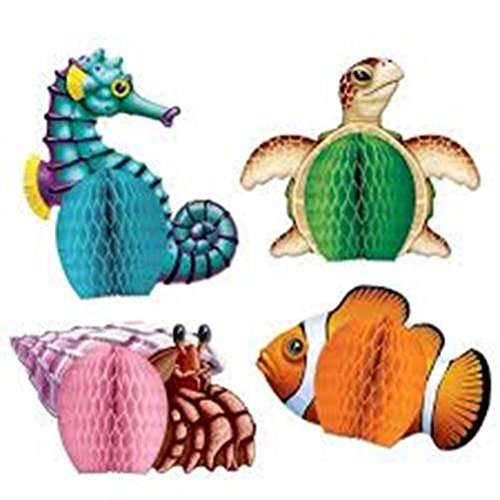 Sea Creatures Playmates   (4/Pkg) (Seahorse Costume Amazon)