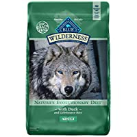 Blue Buffalo Wilderness High Protein Free, Alimento natural para perros seco para adultos, pato de 24 lb