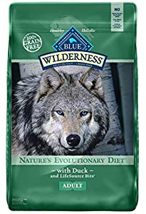 Blue Buffalo Wilderness High Protein Grain Free, Natural Adult Dry Dog Food, Duck 11-lb