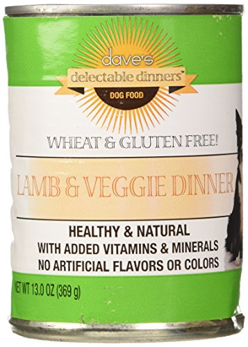 Dave's Pet Food Lamb and Veggies Dinner Food (12 Cans Per Case), 13.2 oz.