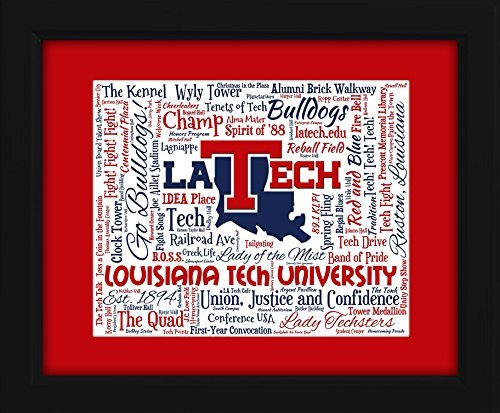 La Tech University >> Amazon Com Louisiana Tech University La Tech 16x20 Art