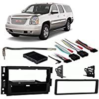 Fits GMC Yukon/Yukon XL 2007-2013 Single DIN Harness Radio Install Dash Kit