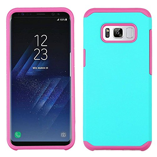Price comparison product image MyBat Cell Phone Case for Samsung Galaxy S8 - Teal Green / Hot Pink