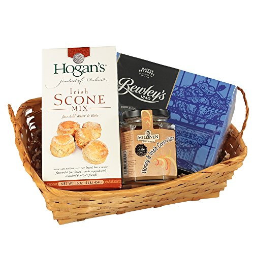 Irish Afternoon Tea Gift Basket, Tea & Scones Gift Basket