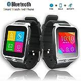Indigi SWAP2 GSM Wireless Bluetooth Smart Watch Phone Camera Unlocked AT&T / T-mobile (Silver)