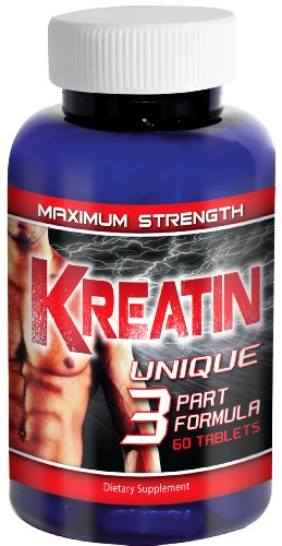 Kreatin(TM) Pure Creatine Monohydrate Supplement, 5000mg Pills, Optimum Tri Phase Formula Muscle Performance and Development Supplement