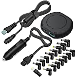 Outtag MINI Size 90W Universal Laptop Car Charger 15V 16V 18.5V 19V 19.5V 20V DC Power Adapter 5V USB & Detachable Cord for HP Dell Toshiba IBM Lenovo Acer ASUS Compaq Samsung Sony and more Notebooks