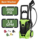 ncient FTH-5200 Electric High Pressure Washer Electric Power Washer 3000 PSI 1.8 GPM 1800W Sprayer Professional Washer Cleaner Machine with 5 Quick-Connect Spray Nozzles [US Stock] (3000PSI) Review