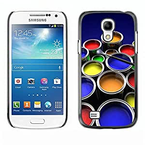 LASTONE PHONE CASE / Slim Protector Hard Shell Cover Case for Samsung Galaxy S4 Mini i9190 MINI VERSION! / Painting Kit Art Drawing Color Pots Design by ruishername
